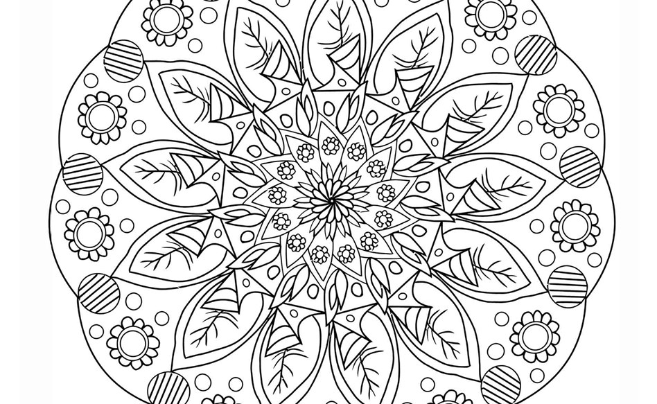 Flower Colouring Page