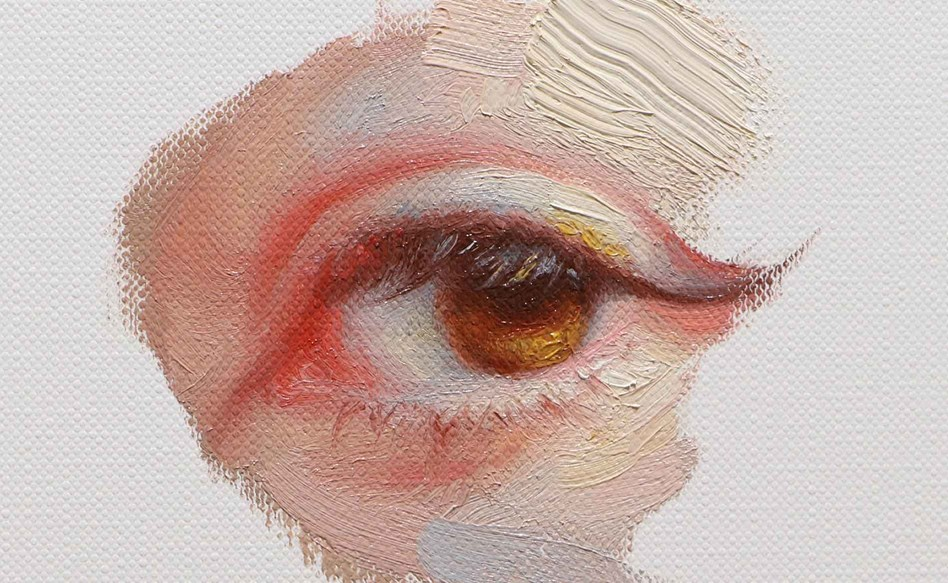 Painting an eye