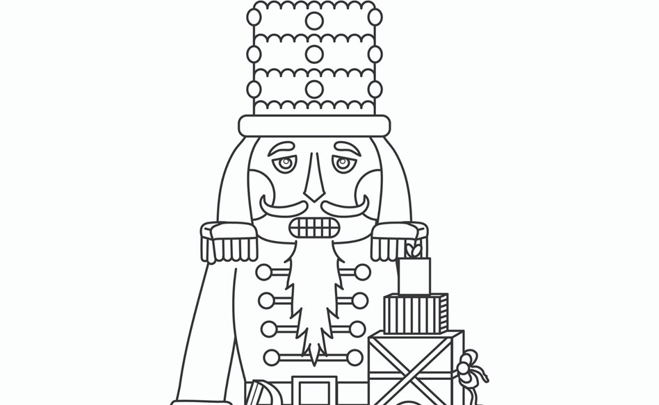 The Nutcracker Colouring Page