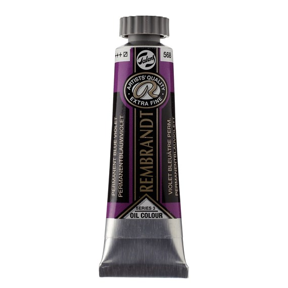 Oil Colour Tube 15 ml Permanent Blue Violet 568 - PackshotFront