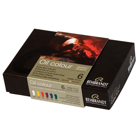 Oil colour Paint Starter Set, 6x15ml Tubes - PackshotFront
