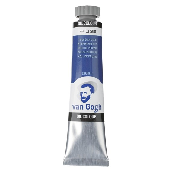 Oil Colour Tube 20 ml Prussian Blue 508 - PackshotFront