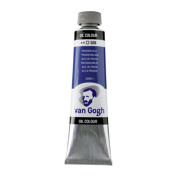 Oil Colour Tube 40 ml Prussian Blue 508 - PackshotFront