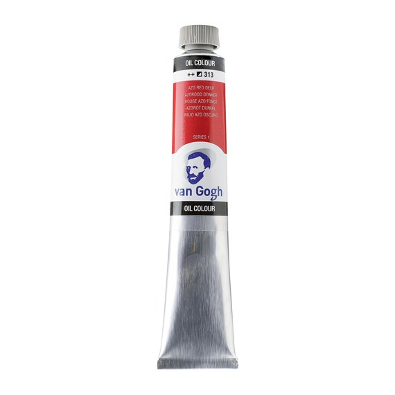 Oil Colour Tube 60 ml Azo Red Deep 313 - PackshotFront