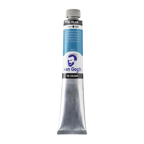 Oil Colour Tube 60 ml Cerulean Blue (Phthalo) 535 - PackshotFront