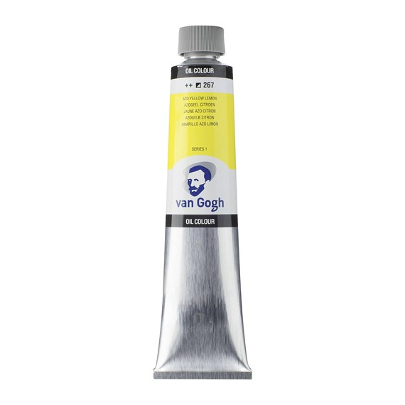 Oil Colour Tube 200 ml Azo Yellow Lemon 267 - PackshotFront
