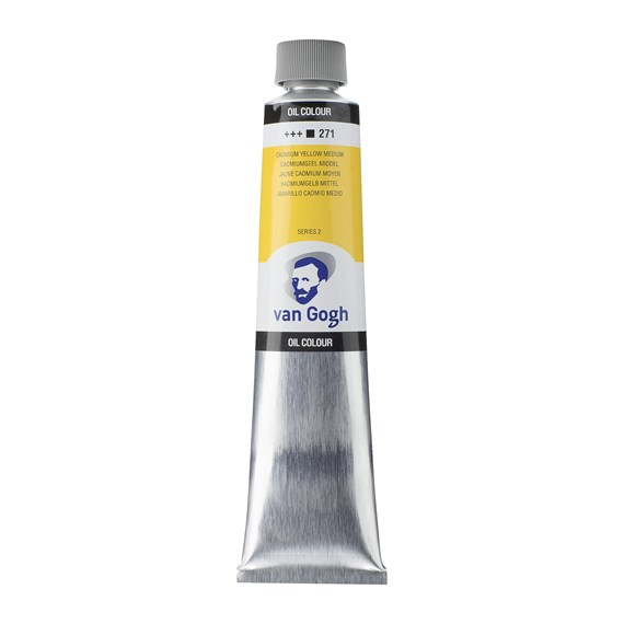 Oil Colour Tube 200 ml Cadmium Yellow Medium 271 - PackshotFront