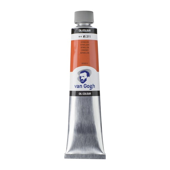 Oil Colour Tube 200 ml Vermilion 311 - PackshotFront