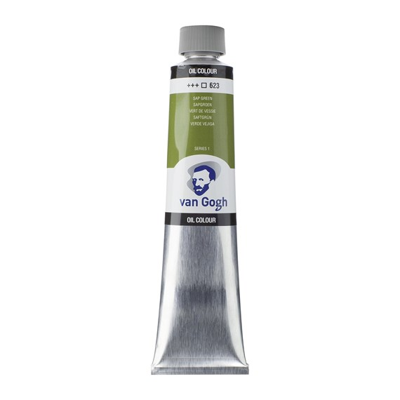 Oil Colour Tube 200 ml Sap Green 623 - PackshotFront