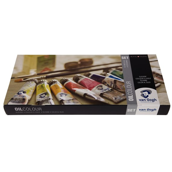 Oil Colour Advanced Set with 10 Colours in 20ml Tube + Accessories - PackshotFront