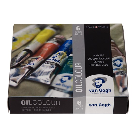 Oil Colour Starter Set with 6 Colours in 20ml Tube - PackshotFront