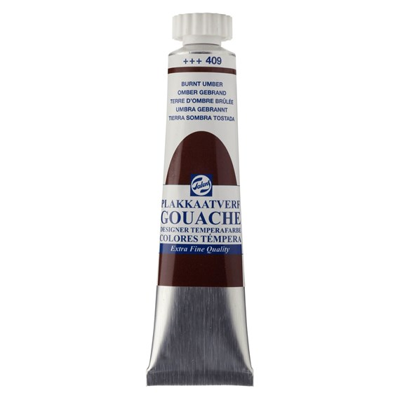 Gouache Extra Fine Tube 20 ml Terre Ombre Brulée 409 - PackshotFront