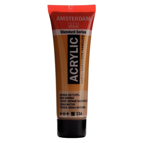 Standard Series Acrylic Tube 20 ml Raw sienna 234 - PackshotFront