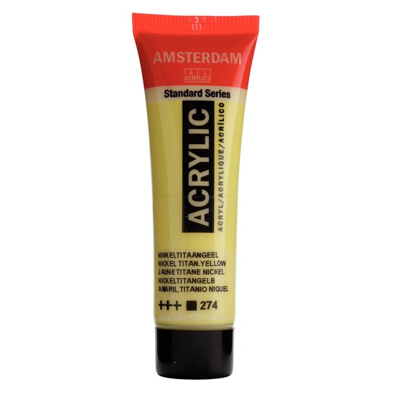 Standard Series Colores Acrílicos Tubo 20 ml Amarillo Níquel Titanio 274 - PackshotFront
