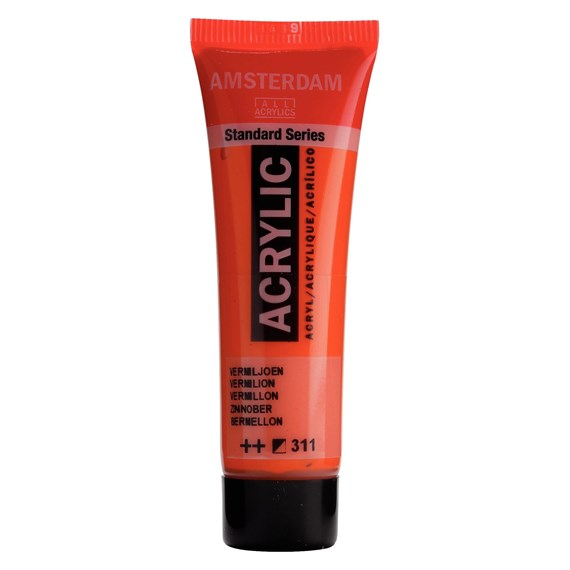 Standard Series Acrylic Tube 20 ml Vermilion 311 - PackshotFront