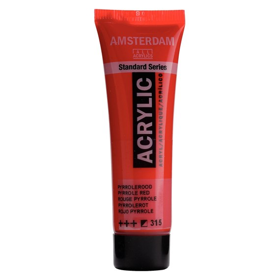 Standard Series Acrylique Tube 20 ml Rouge pyrrole 315 - PackshotFront