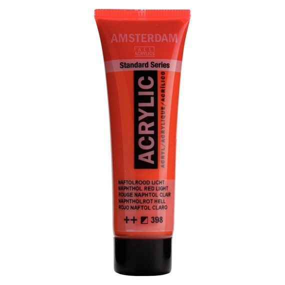 Standard Series Acrylique Tube 20 ml Rouge naphtol clair 398 - PackshotFront