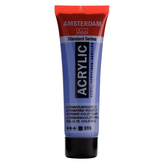 Standard Series Acrylic Tube 20 ml Ultramarine violet light 519 - PackshotFront