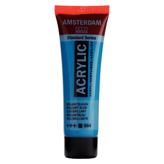 Standard Series Colores Acrílicos Tubo 20 ml Azul Brillante 564 - PackshotFront