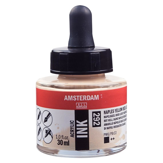 Acrylic Ink Bottle 30 ml Naples Yellow Red Light 292 - PackshotFront
