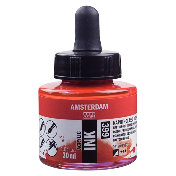 Acrylic Tinte Flasche 30 ml Naphtholrot Dunkel 399 - PackshotFront
