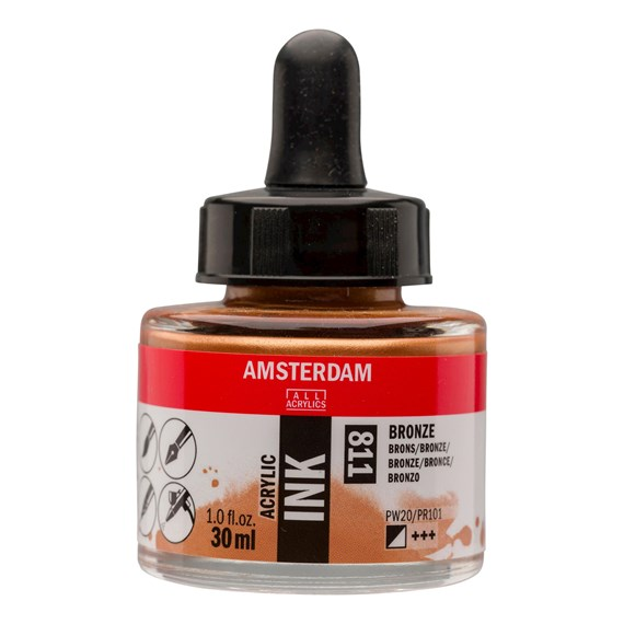Acrylic Ink Bottle 30 ml Bronze 811 - PackshotFront