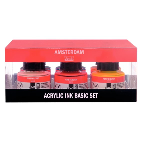 Acrylic Ink Basic Set - 6 x 30 ml - PackshotFront