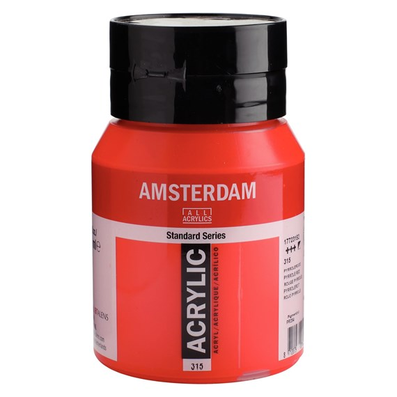 Standard Series Acrylique Pot 500 ml Rouge pyrrole 315 - PackshotFront