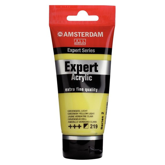 Expert Series Acrylfarbe Tube 75 ml Grüngelb Hell 219 - PackshotFront