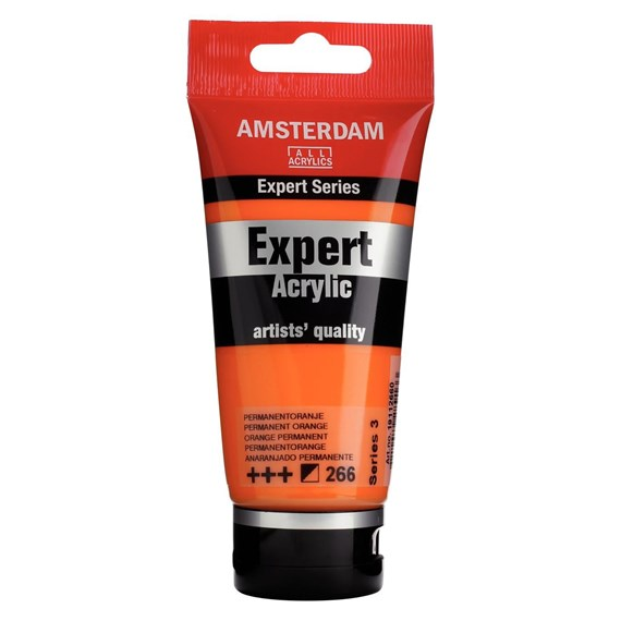 Expert Series Acrylfarbe Tube 75 ml Permanentorange 266 - PackshotFront