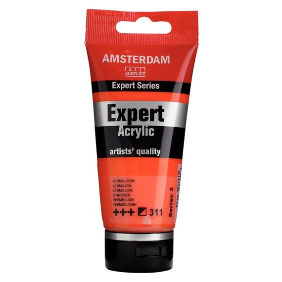 Expert Series Acrylique Tube 75 ml Vermillon 311 - PackshotFront