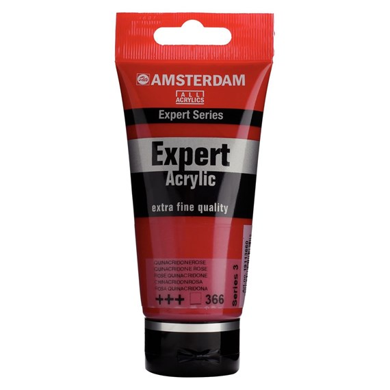 Expert Series Acrylic Tube 75 ml Quinacridone Rose 366 - PackshotFront