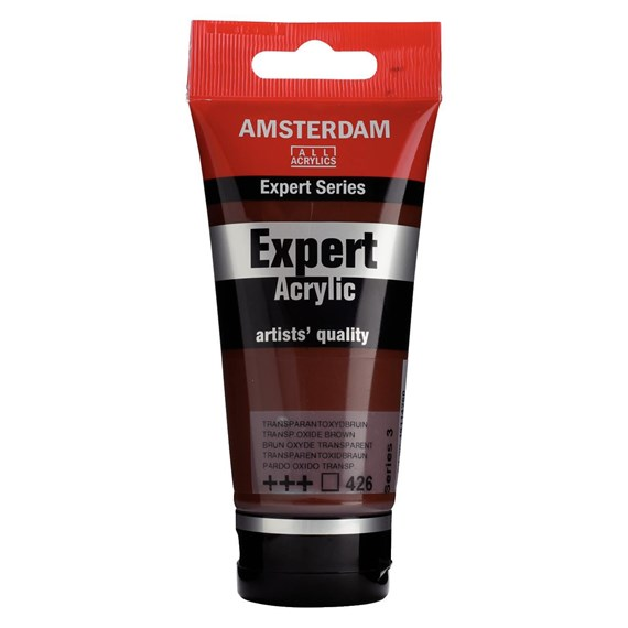 Expert Series Acrylic Tube 75 ml Transparent Oxide Brown 426 - PackshotFront