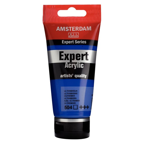 Expert Series Acrylique Tube 75 ml Outremer 504 - PackshotFront