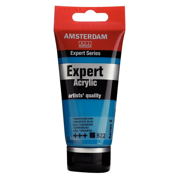 Expert Series Acrylverf Tube 75 ml Turkooisblauw 522 - PackshotFront