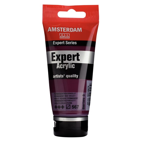Expert Series Acrylfarbe Tube 75 ml Permanentrotviolett 567 - PackshotFront