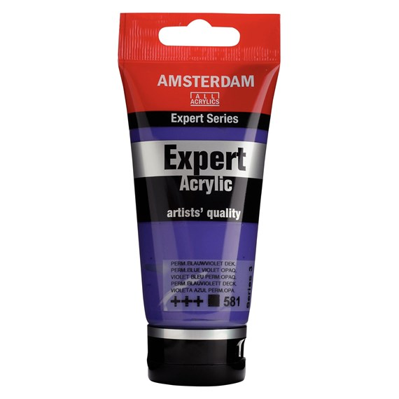Expert Series Acrylfarbe Tube 75 ml Permanentblauviolett 581 - PackshotFront
