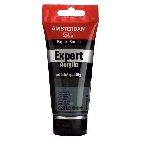 Expert Series Acrylic Tube 75 ml Olive Green 620 - PackshotFront