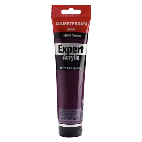 Expert Series Acrylic Tube 150 ml Permanent Red Violet 567 - PackshotFront