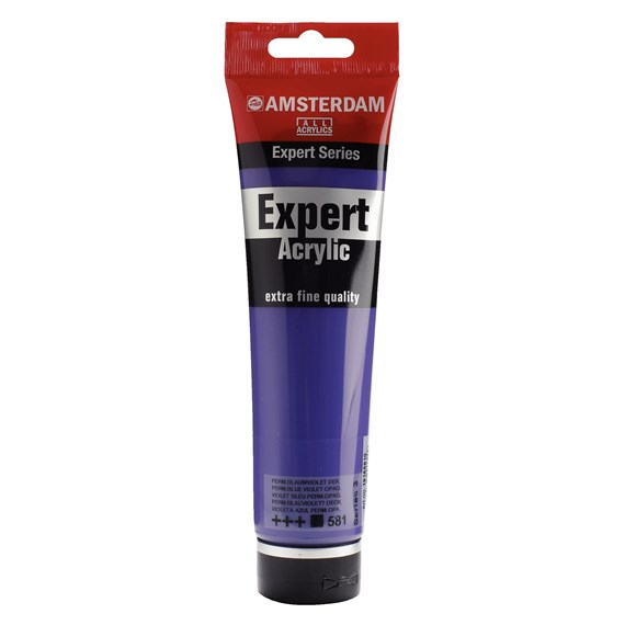 Expert Series Acrylic Tube 150 ml Permanent Blue Violet 581 - PackshotFront