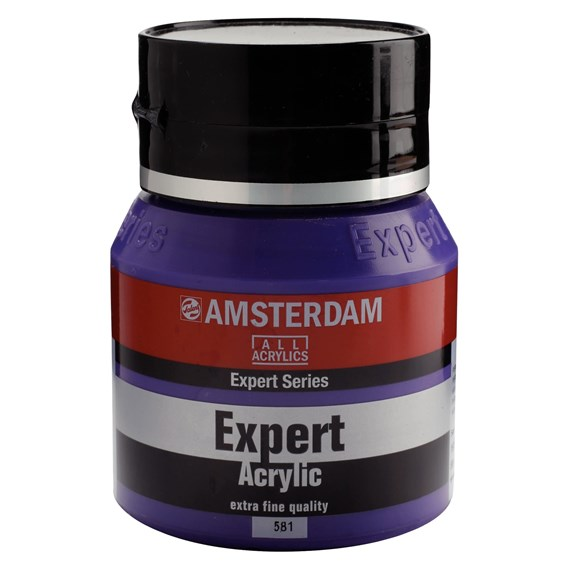 Expert Series Acrylic Jar 400 ml Permanent Blue Violet 581 - PackshotFront