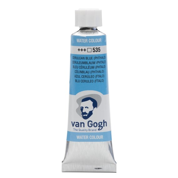 Watercolour Tube 10 ml Cerulean Blue (Phthalo) 535 - PackshotFront