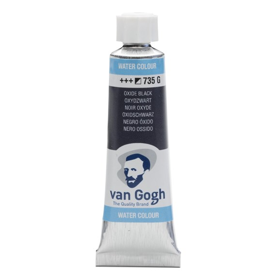 Watercolour Tube 10 ml Oxide Black 735 - PackshotFront