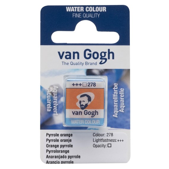 Watercolour Pan Pyrrole Orange 278 - PackshotFront