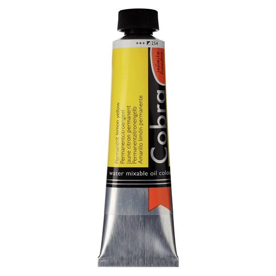 Artist Water Mixable Oil Colour Tube 40 ml Permanent lemon yellow 254 - PackshotFront