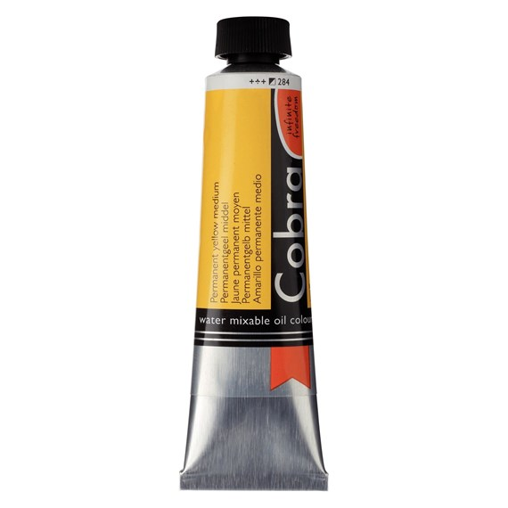 Artist Water Mixable Oil Colour Tube 40 ml Permanent yellow medium 284 - PackshotFront