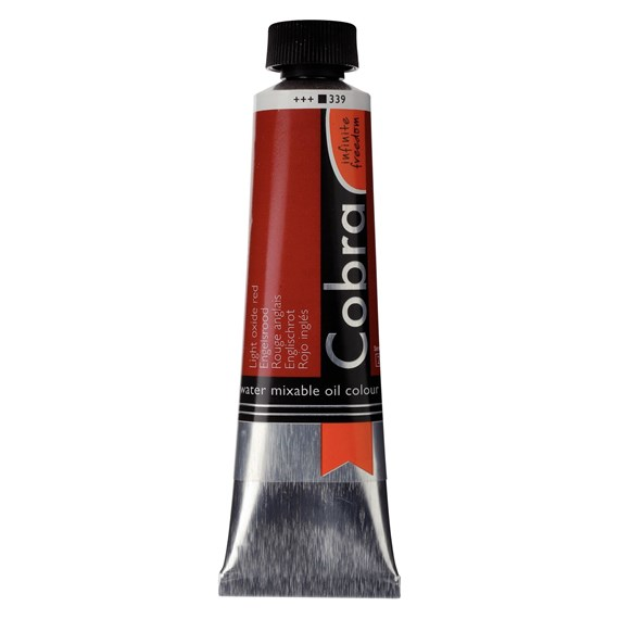 Artist Water Mixable Oil Colour Tube 40 ml Light oxide red 339 - PackshotFront