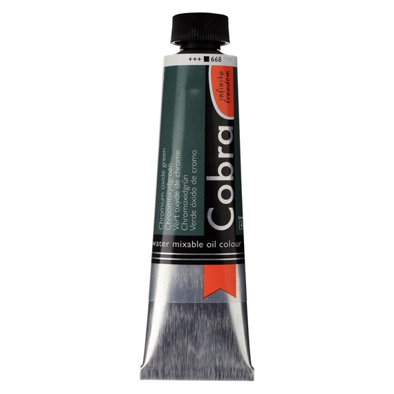 Artist Water Mixable Oil Colour Tube 40 ml Chromium oxide green 668 - PackshotFront
