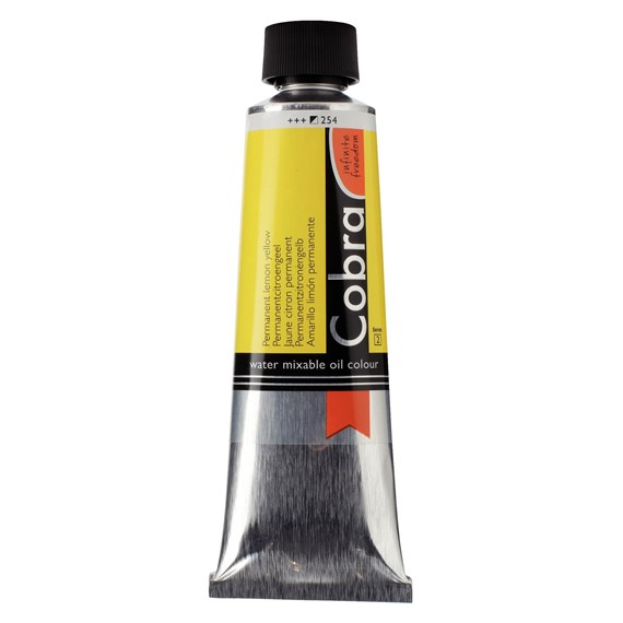 Artist Water Mixable Oil Colour Tube 150 ml Permanent lemon yellow 254 - PackshotFront