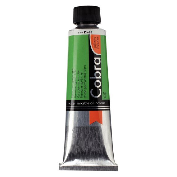 Artist Water Mixable Oil Colour Tube 150 ml Permanent green light 618 - PackshotFront